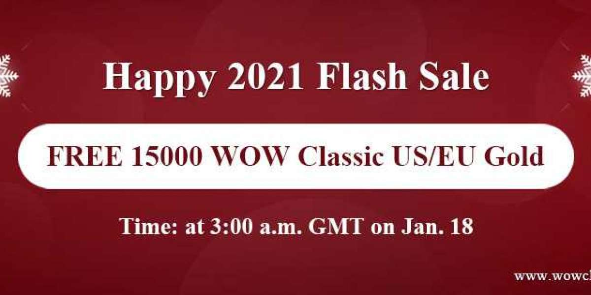 100% Free safe and cheap wow classic gold on WOWclassicgp Happy 2021 Flash Sale for you