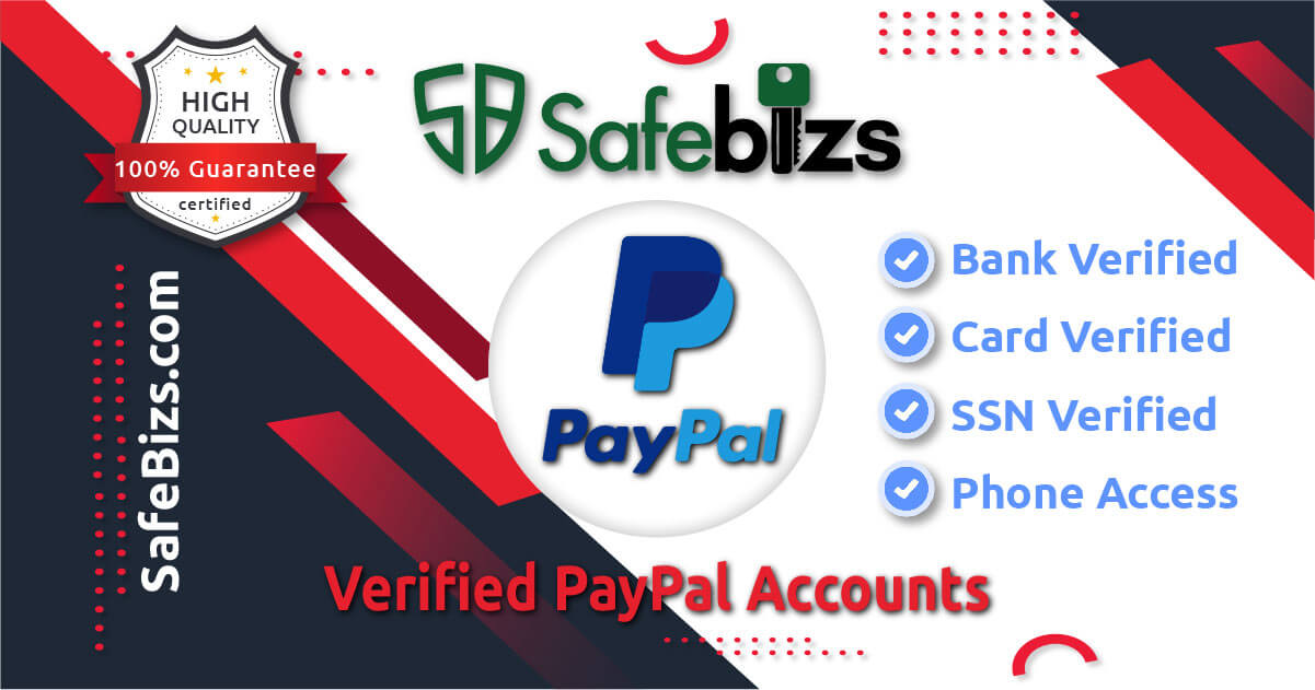 Buy Verified PayPal Accounts : Enjoy You Safe Money Transactions - 100% Verified Old & New