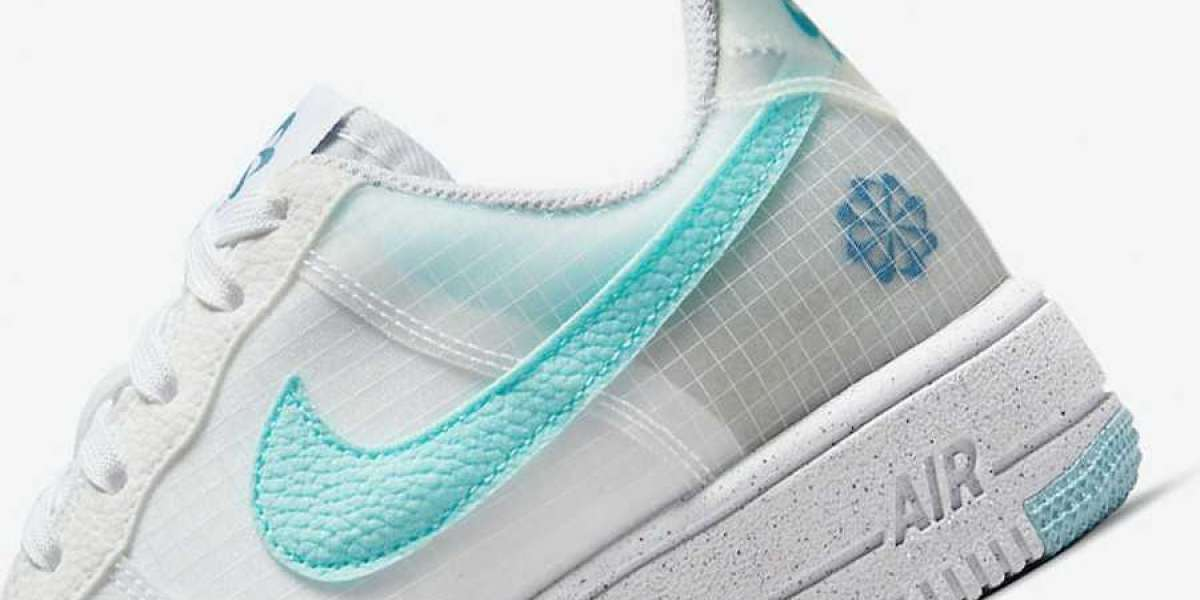 """This pair of Nike Air Force 1 Crater GS """"Move To Zero"""" DC9326-100 is environmentally friendly and refreshing!"""